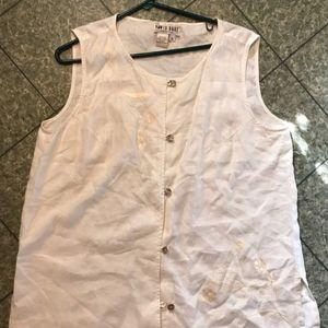 Embroidered Linen Shirt XL